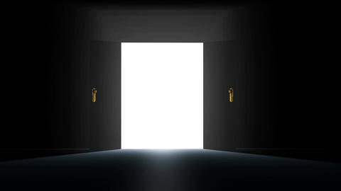 4 K Mysterious Door 1 Stock Video Footage