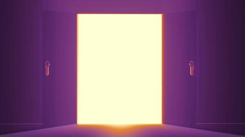 4 K Mysterious Door 5 Stock Video Footage