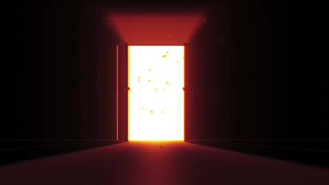 4 K Mysterious Door 7 magic dust Stock Video Footage