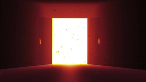 4 K Mysterious Door 7 magic dust Animation