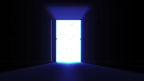 4 K Mysterious Door 9 magic dust Stock Video Footage