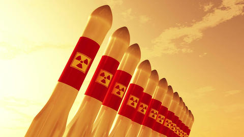 4 K Nuclear Rockets 1 Stock Video Footage
