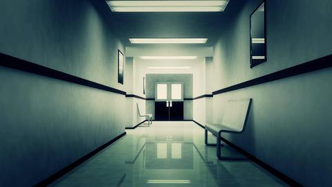 4 K Scary Hospital Corridor 2 Animation
