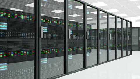 4 K Server Room 1 Stock Video Footage