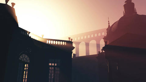 4 K Sunset in Rome 1 Stock Video Footage