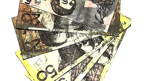 Australian Dollar Banknotes Comic Marvel 1 Stock Video Footage