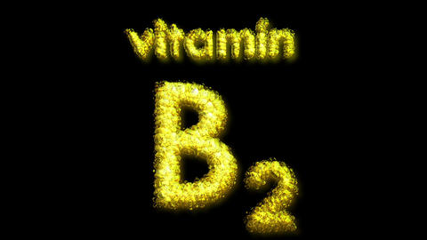 B2 Vitamin 2 Stock Video Footage