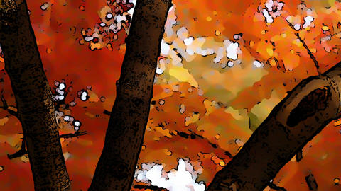 Beautiful Autumn Scene Comic Marvel 4 Footage
