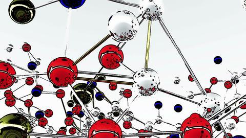 Complex Molecule Structure Comic Marvel 2 Stock Video Footage