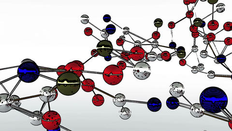 Complex Molecule Structure Comic Marvel 4 Animation