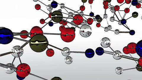 Complex Molecule Structure Comic Marvel 4 Stock Video Footage