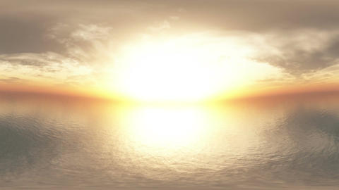 Dramatic Sunset Over Endless Ocean 1 panoramic tim Stock Video Footage