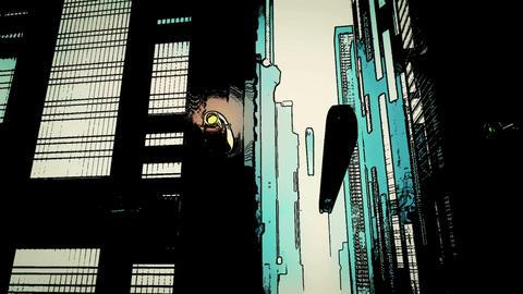 Future City Traffic Comic Marvel 1 Stock Video Footage