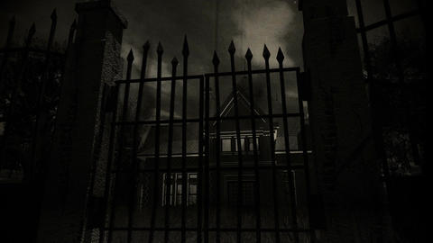 Haunted Scary House 4 vintage Stock Video Footage