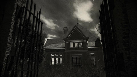 Haunted Scary House 4 Vintage stock footage