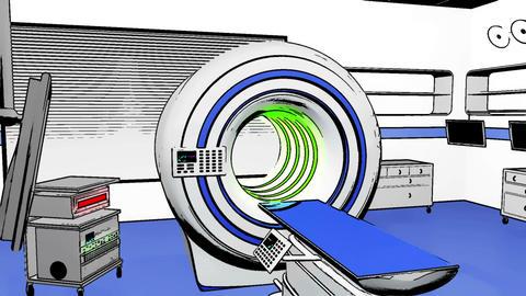 Operation Room MRI CT Machine Comic Marvel 2 Stock Video Footage