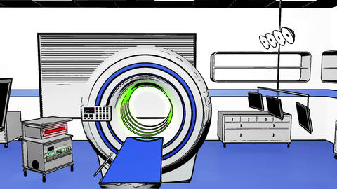 Operation Room MRI CT Machine Comic Marvel 2 Stock Video Footage
