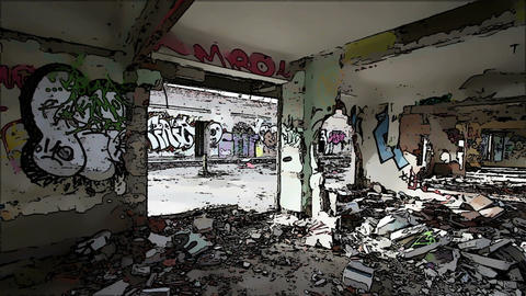 Scary Abandoned Building Domic Marvel 5 Stock Video Footage