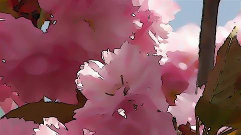 Springtime Blossoming Tree Comic Marvel 3 Stock Video Footage