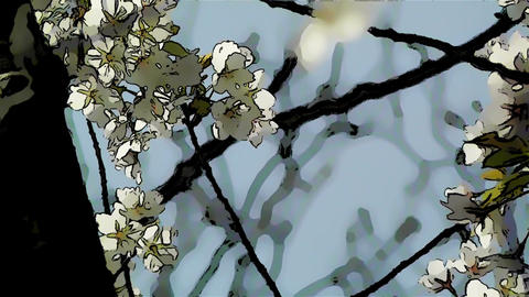 Springtime Blossoming Tree Comic Marvel 5 Stock Video Footage