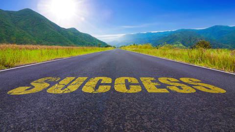 Road to success Stock Video Footage