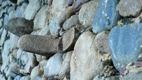 Old stone wall Stock Video Footage