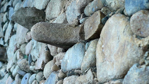 Old stone wall Footage