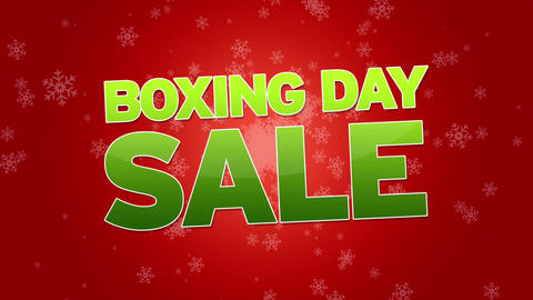 Boxing Day Sale Advertisement Animation