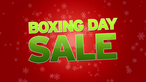Boxing Day Sale Advertisement Stock Video Footage