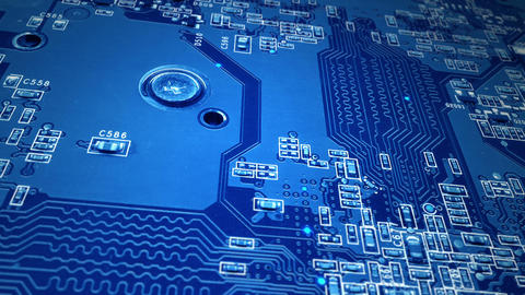 Blue Circuit Board stock footage