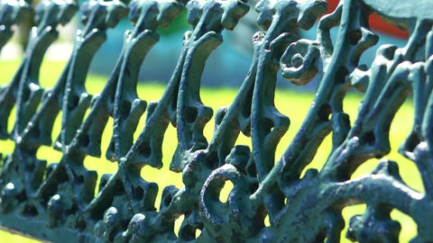 Metal Fence Stock Video Footage