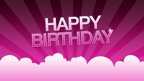 Happy Birthday Advertisement Stock Video Footage