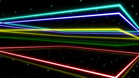 Neon tube R b A 2h HD Stock Video Footage