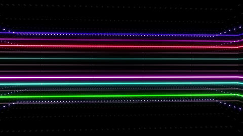 Neon tube R b B 2h HD Stock Video Footage
