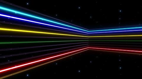 Neon tube R b C 2h HD Stock Video Footage