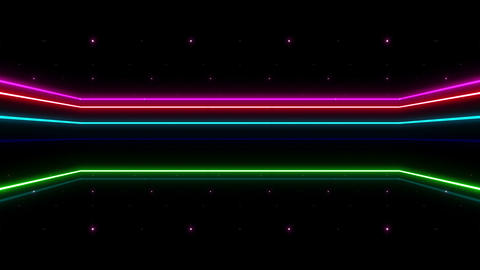 Neon tube R b D 2h HD Stock Video Footage