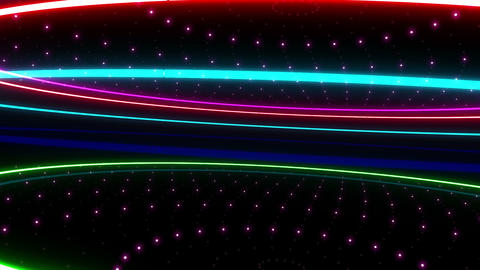 Neon tube R c A 2h HD Stock Video Footage
