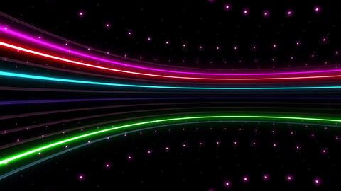 Neon tube R c C 2h HD Stock Video Footage