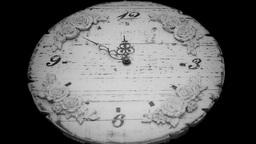 Clock midnight timelapse black white Stock Video Footage