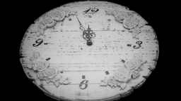 Clock Midnight Timelapse Black White stock footage