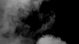 Grey smoke black background long sulphur Stock Video Footage