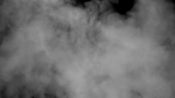 Grey smoke black background pipe Stock Video Footage
