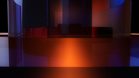 cylinder glossy spinning with a Stock Video Footage