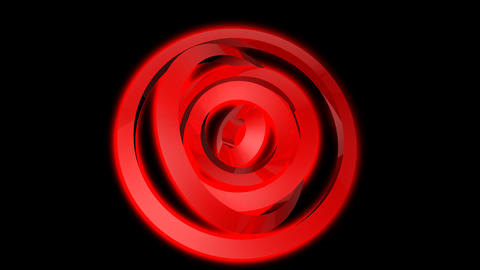 red ring spinning with alpha Stock Video Footage