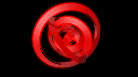 red ring spinning with alpha Animation