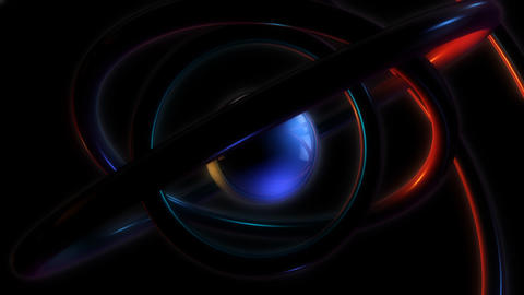 sphere orbit glowing with alpha Stock Video Footage