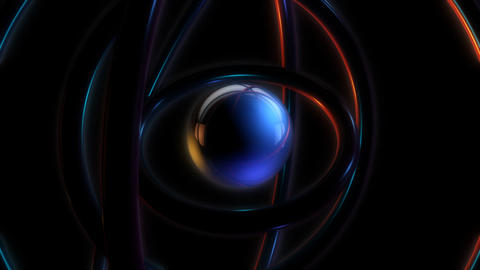 sphere orbit glowing with alpha Animation