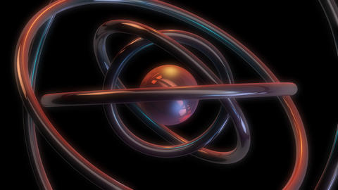 metal ball orbit with alpha Stock Video Footage