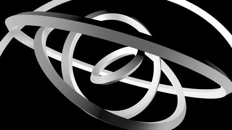 matte rings orbit Stock Video Footage