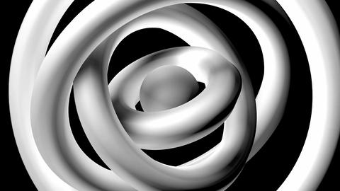 white donuts rotation Animation